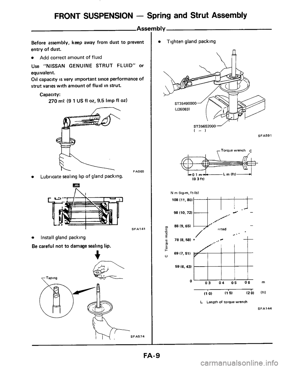 NISSAN 300ZX 1984 Z31 Front Suspension Workshop Manual, Page 9