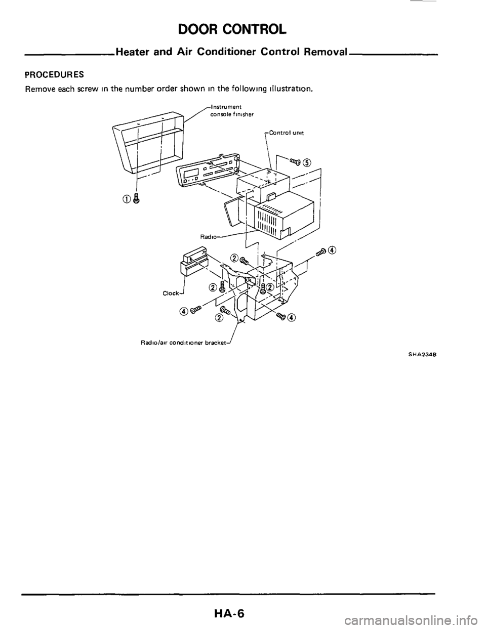 NISSAN 300ZX 1984 Z31 Heather And Air Conditioner Workshop Manual, Page 6