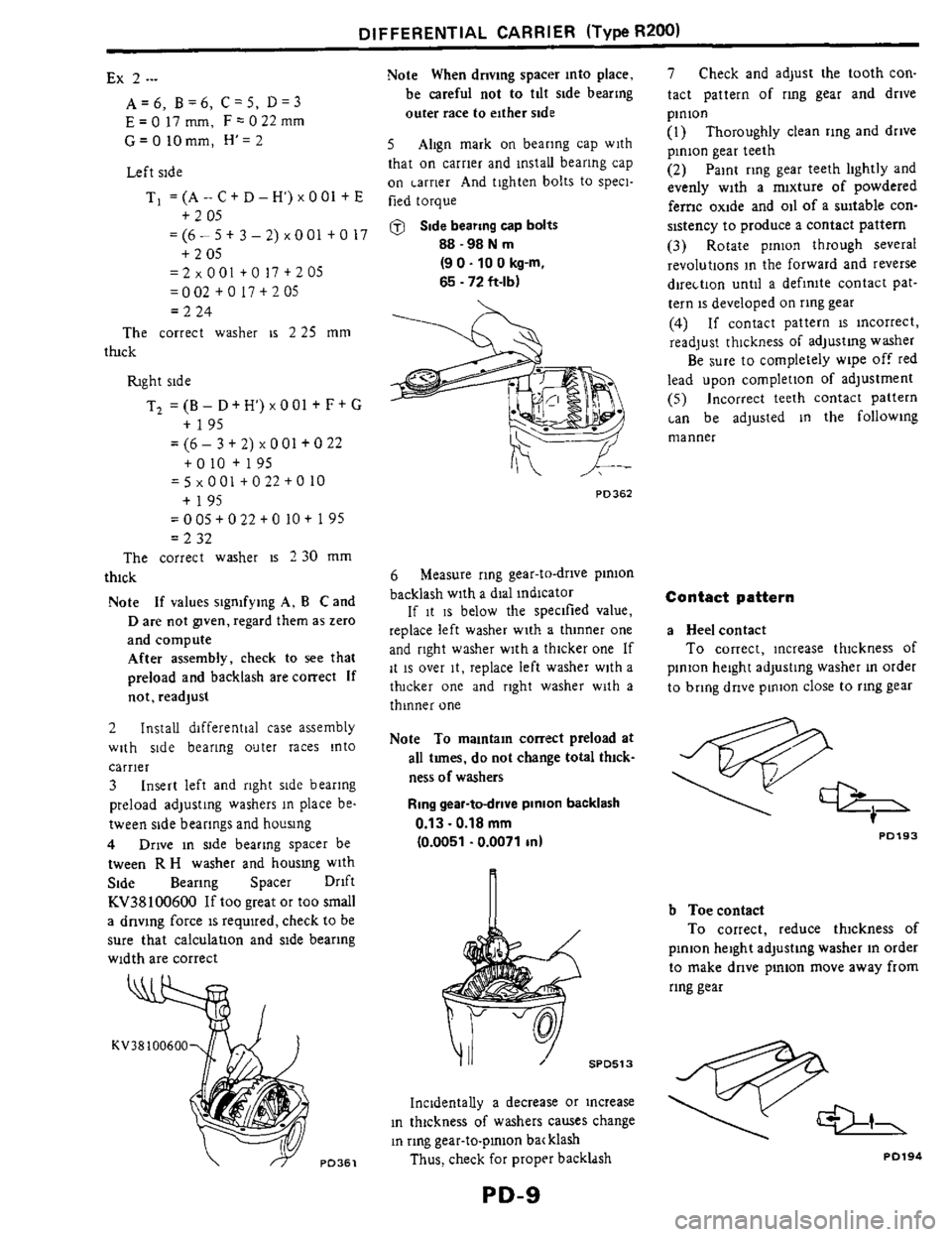 NISSAN 300ZX 1984 Z31 Propeller Shaft And Differential Carrier Workshop Manual, Page 9