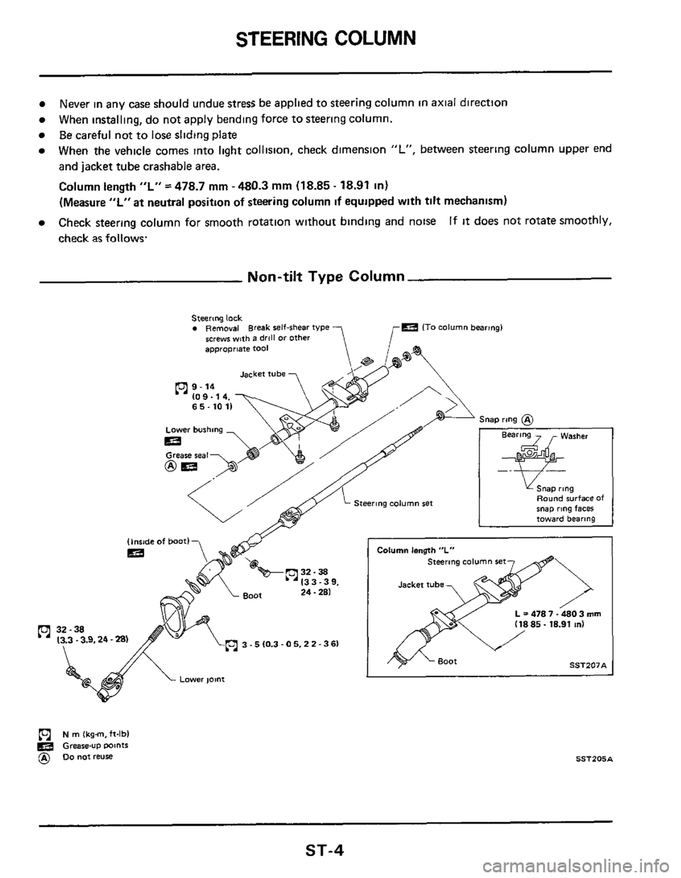 NISSAN 300ZX 1984 Z31 Steering System Workshop Manual, Page 4