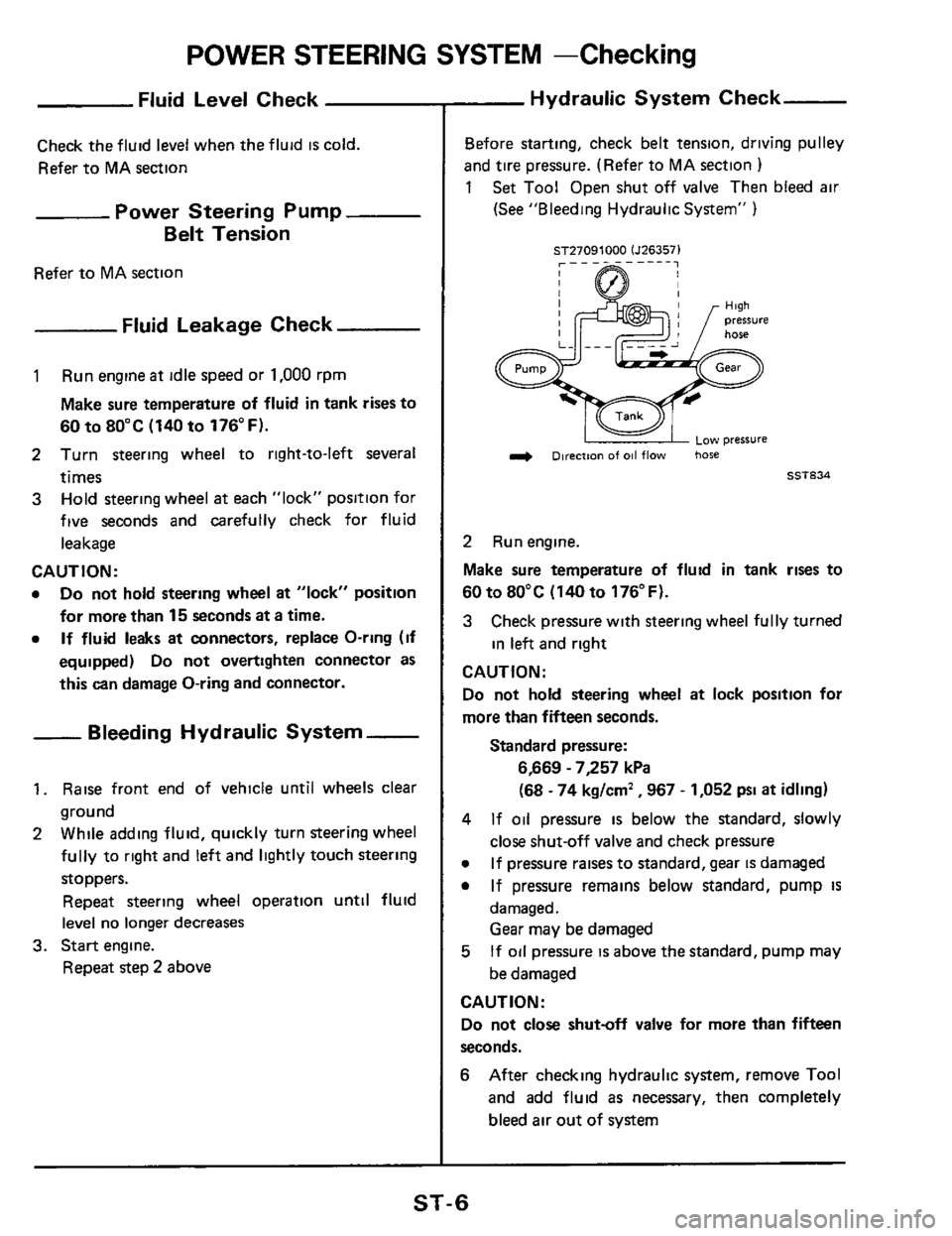 NISSAN 300ZX 1984 Z31 Steering System Workshop Manual, Page 6