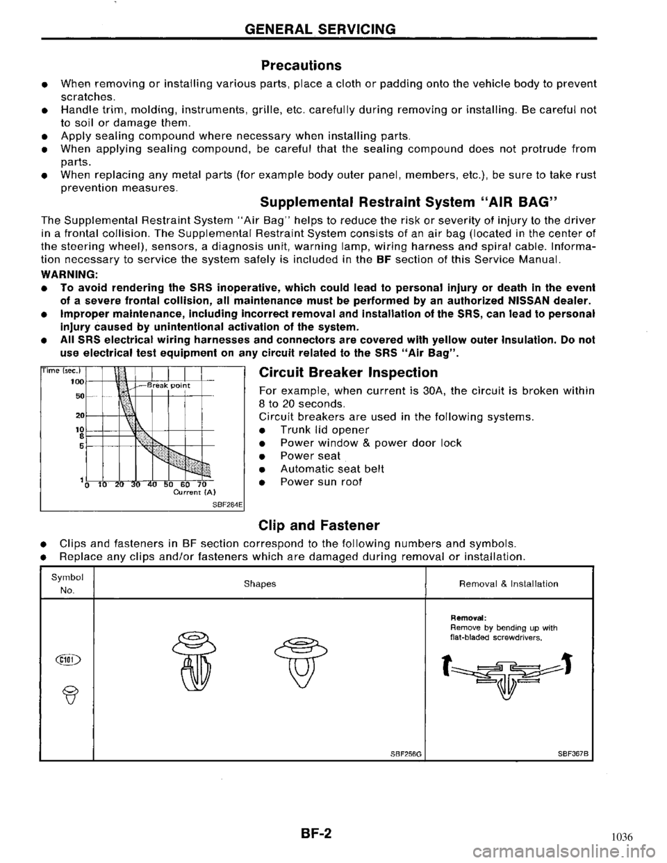 NISSAN MAXIMA 1994 A32 / 4.G Body Workshop Manual, Page 2