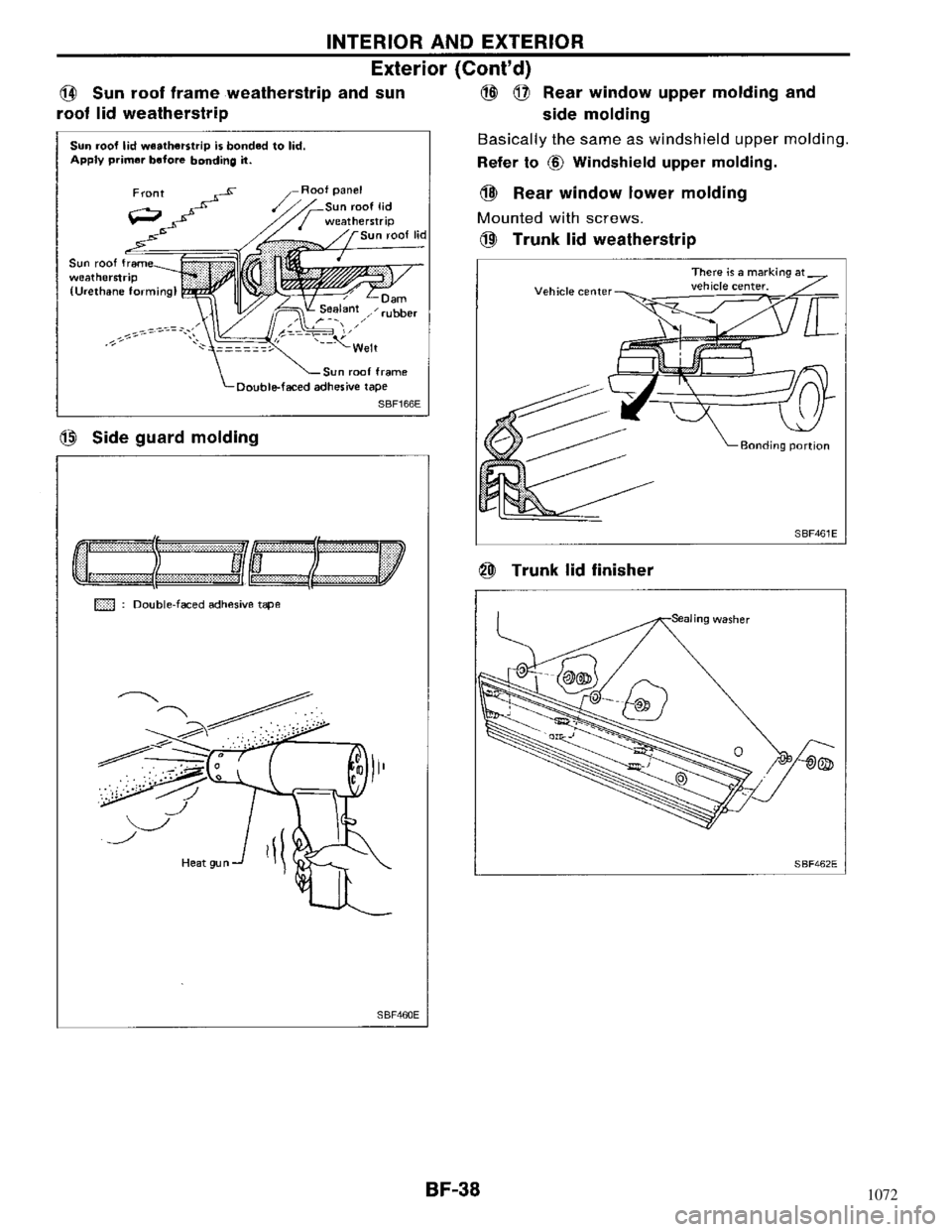 NISSAN MAXIMA 1994 A32 / 4.G Body Workshop Manual, Page 38