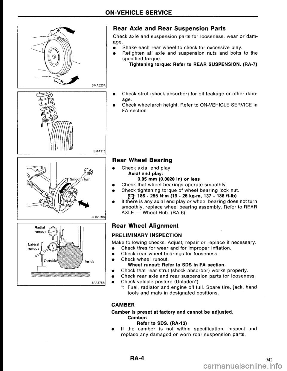 Nissan maxima 1994 a32 4 g rear axle workshop manual
