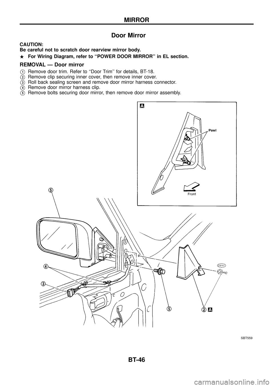 Nissan Patrol 1998 Y61 5g Body Workshop Manual G Wiring Harness Clip