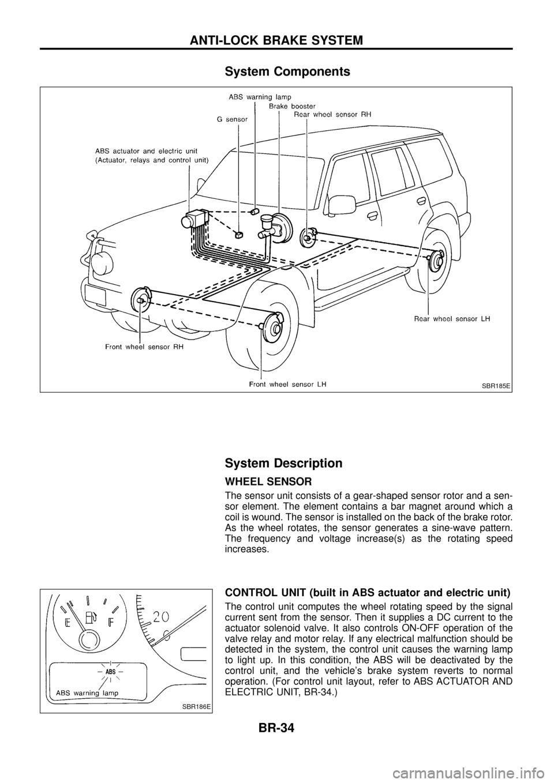 NISSAN PATROL 1998 Y61 / 5.G Brake System Workshop Manual, Page 36