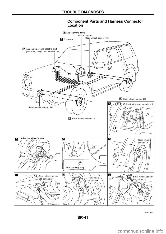 nissan patrol 1998 y61    5 g brake system workshop manual