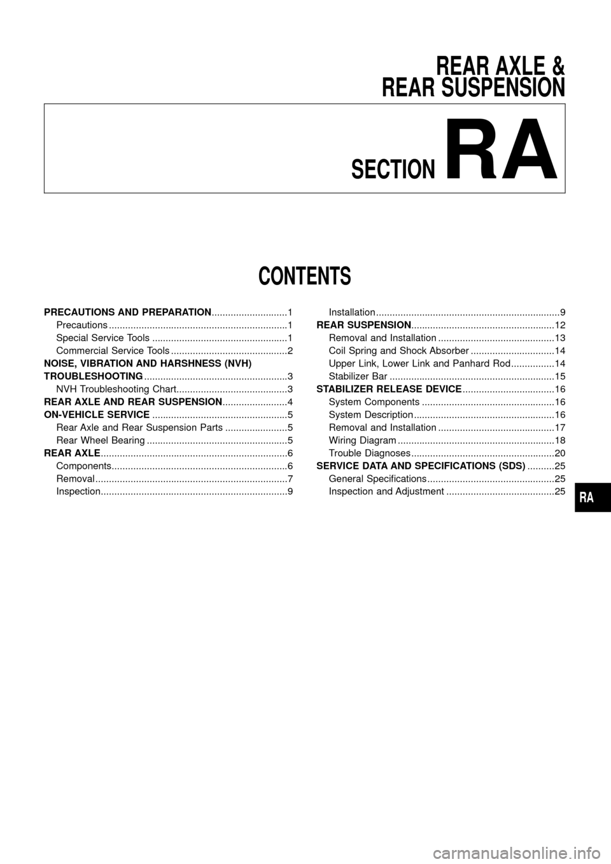 nissan patrol 1998 y61 / 5.g rear suspension workshop manual, Wiring diagram
