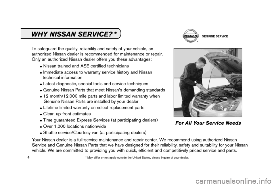 NISSAN 350Z 2006 Z33 Service And Maintenance Guide, Page 6
