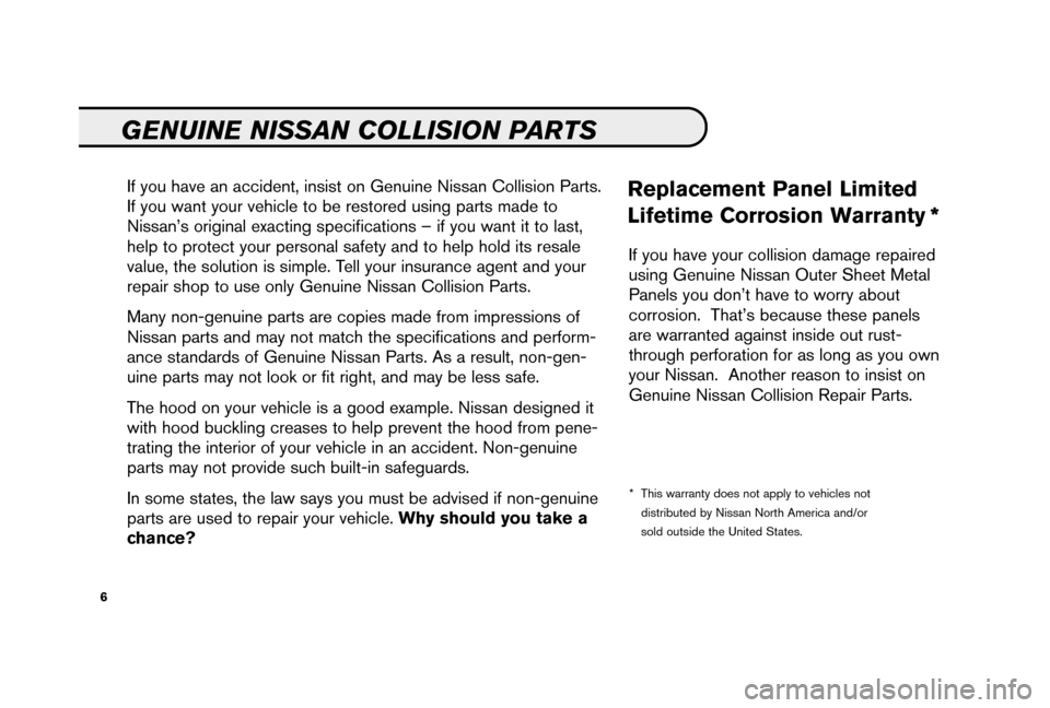 NISSAN 350Z 2006 Z33 Service And Maintenance Guide, Page 8