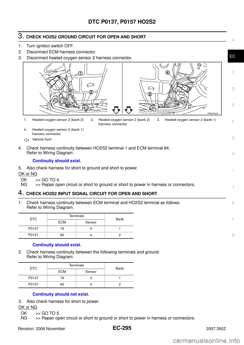 Nissan 350z 2007 Z33 Engine Control Workshop Manual Wire Diagram