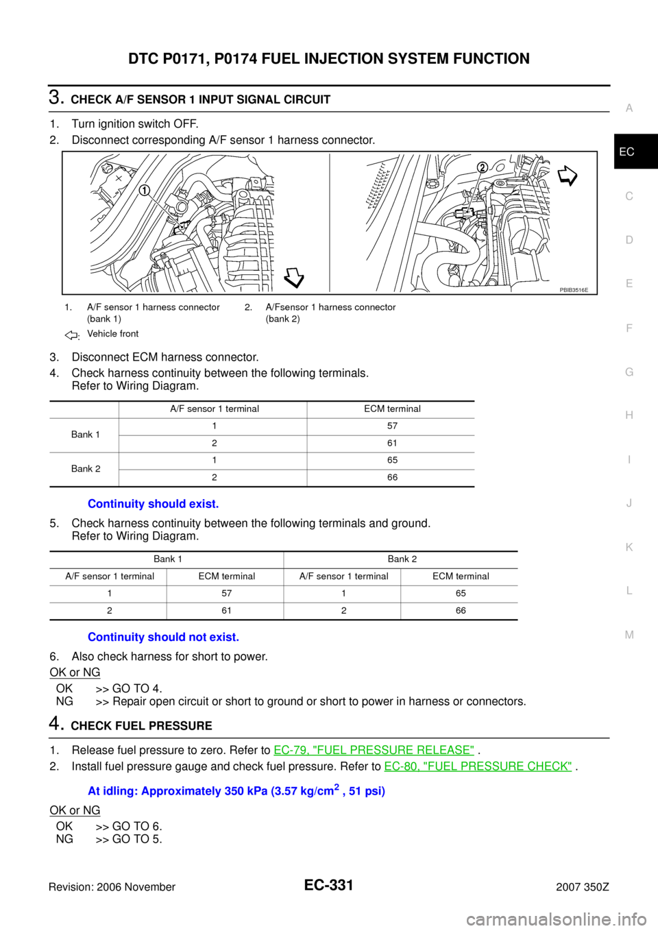 Esp Nissan 350z 2007 Z33 Engine Control Workshop Manual Wiring Diagrams Page 331