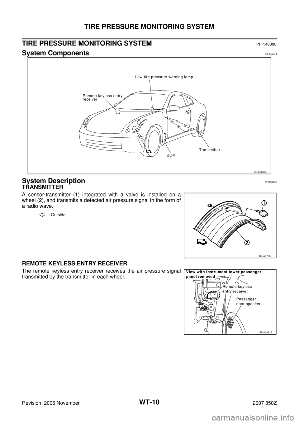 NISSAN 350Z 2007 Z33 Road Wheels And Tires Workshop Manual, Page 10