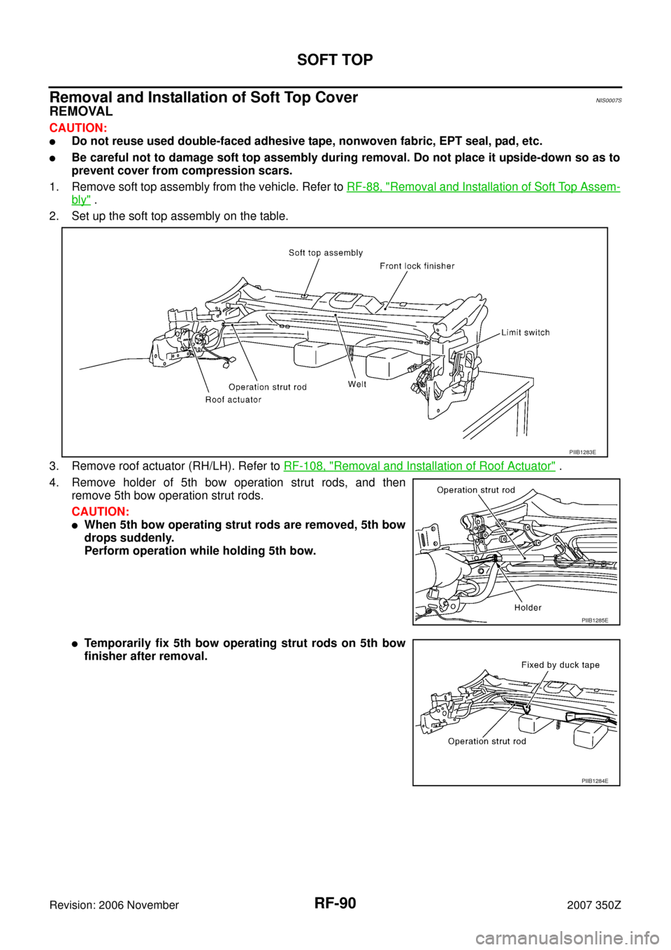 Nissan 350z 2007 Z33 Roof Workshop Manual Bow Snow Plow Wiring Diagram