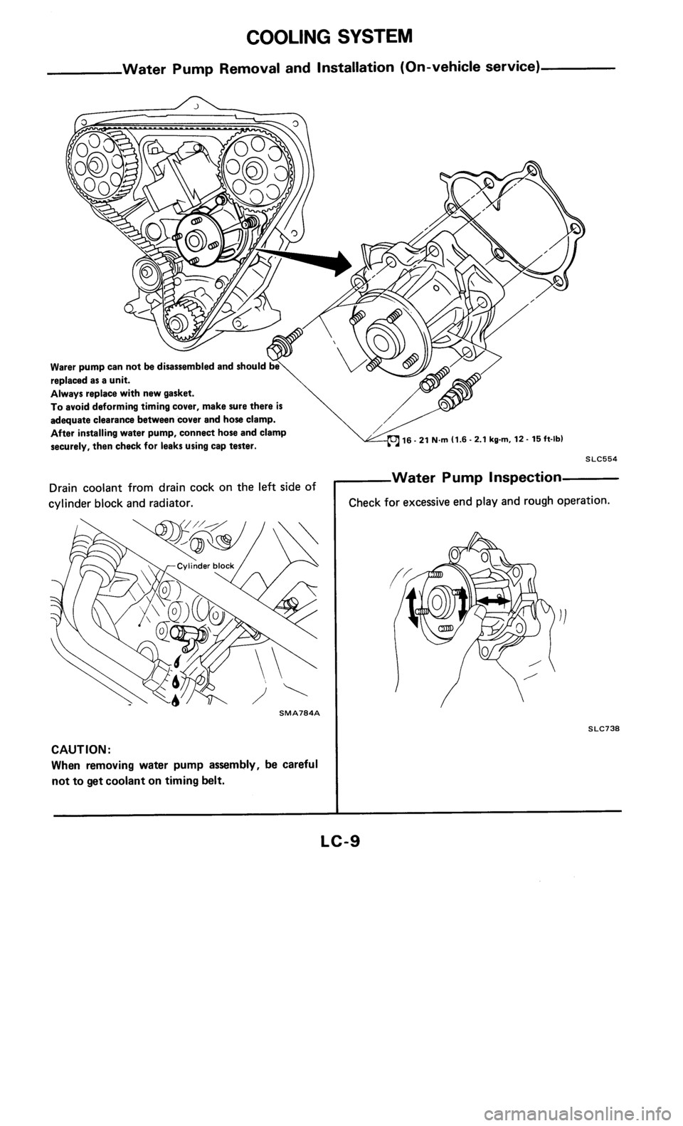 NISSAN 300ZX 1985 Z31 Engine Lubrication And Cooling System Workshop Manual, Page 9