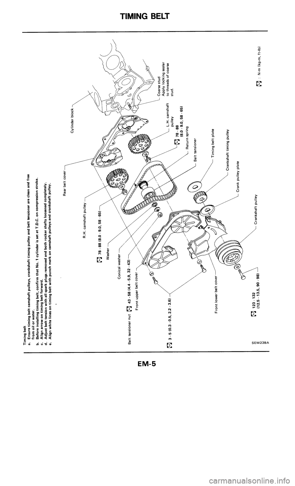 Nissan 300zx 1986 Z31 Engine Mechanical Workshop Manual Porsche Flat 6 Diagram
