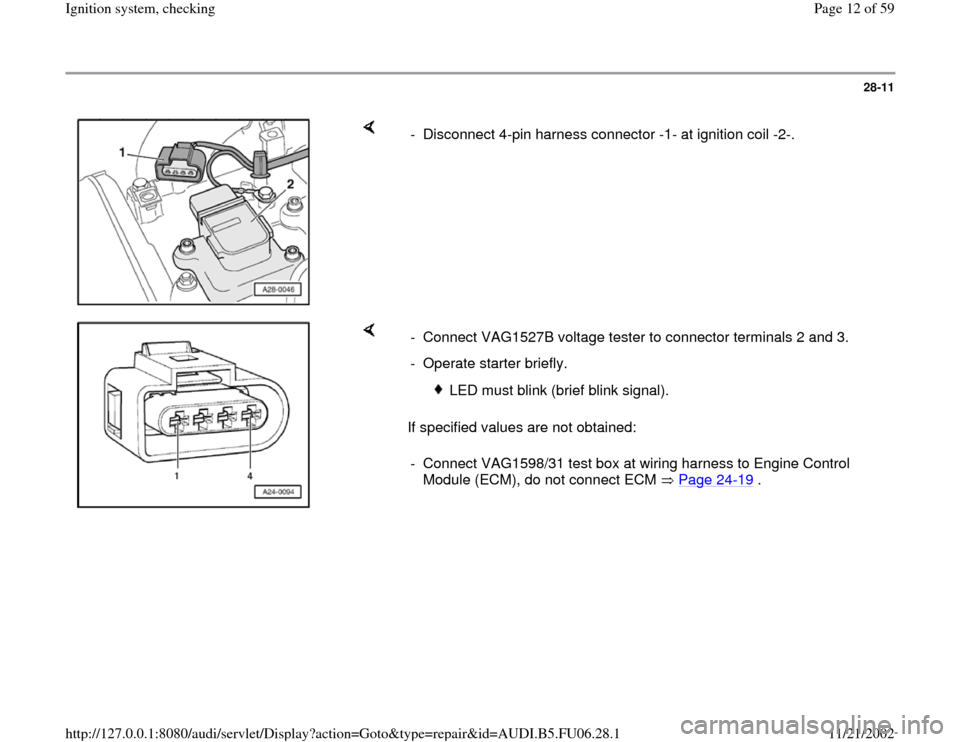 AUDI A6 1995 C5 / 2.G ATW Engine Ignition System Workshop Manual, Page 12