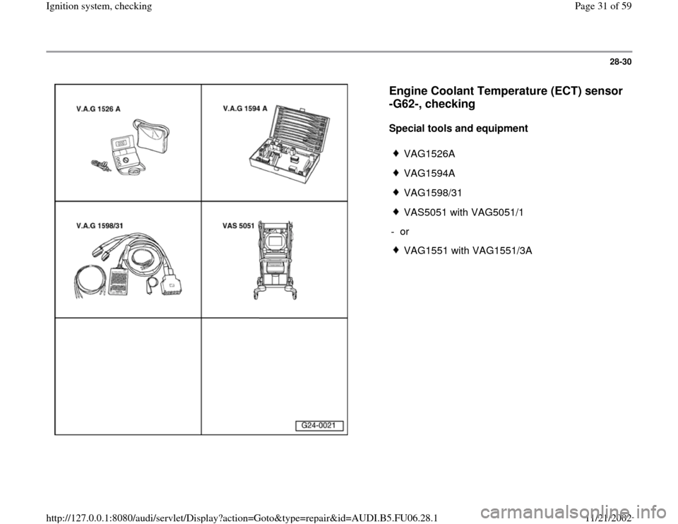 AUDI A6 1995 C5 / 2.G ATW Engine Ignition System Workshop Manual, Page 31