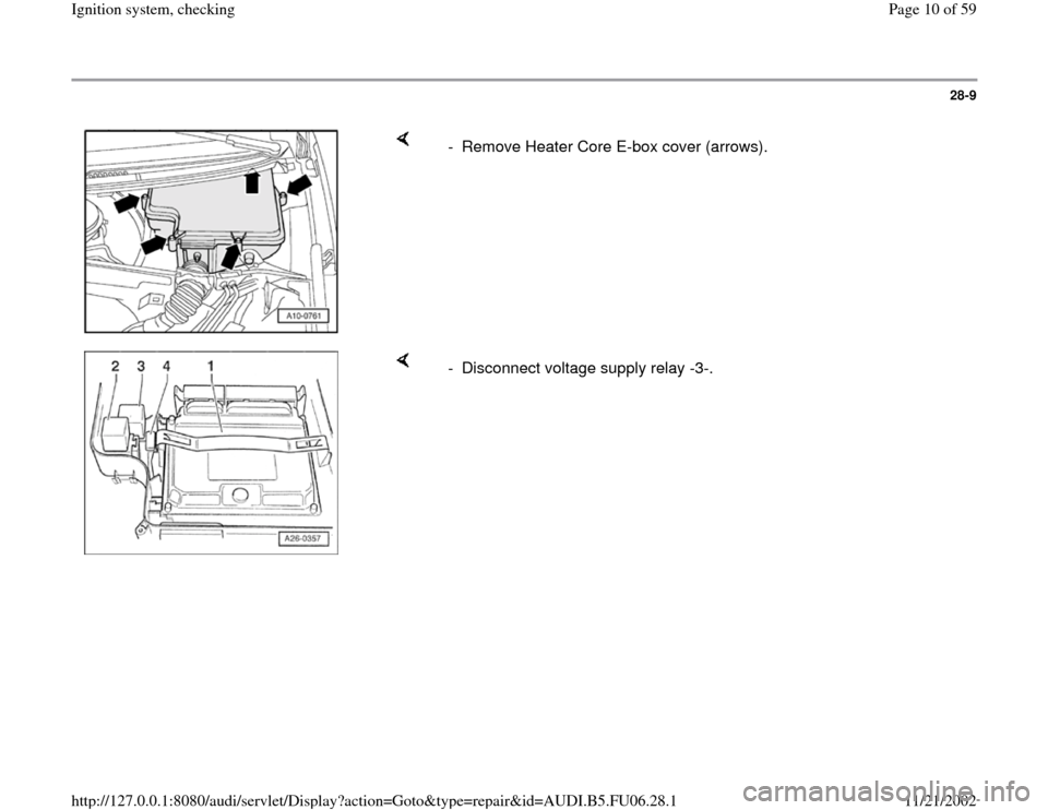AUDI A4 1999 B5 / 1.G ATW Engine Ignition System Workshop Manual, Page 10