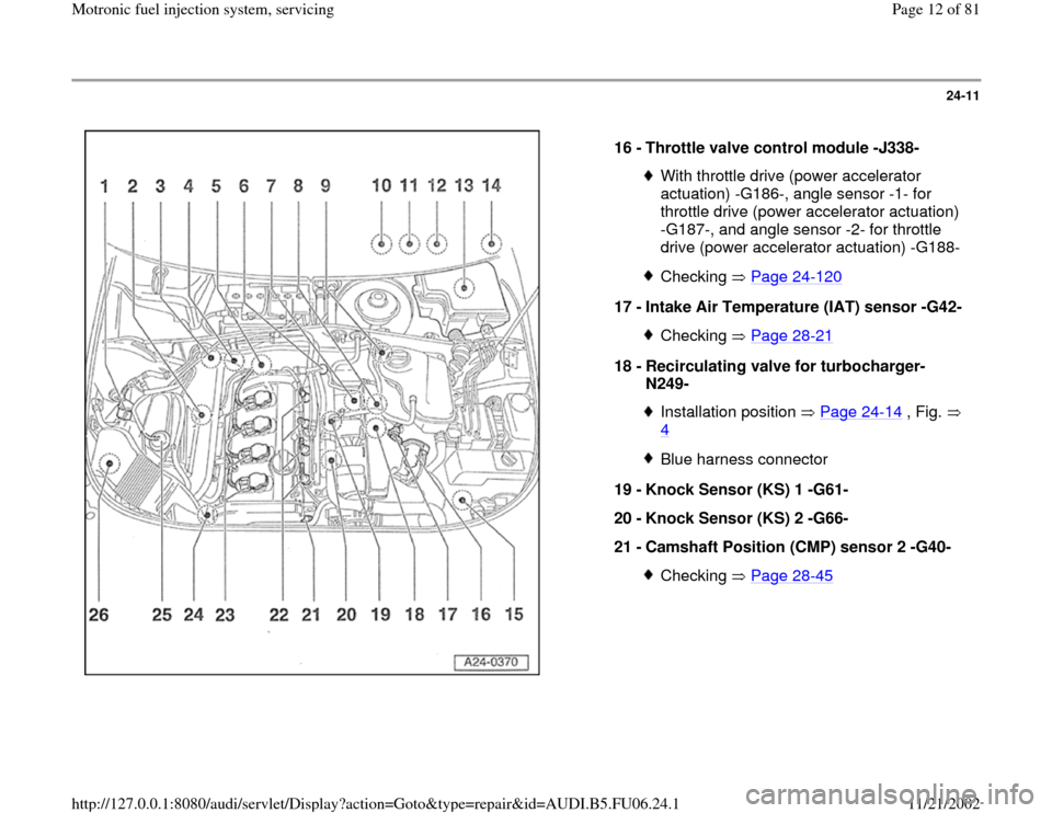 AUDI A4 1997 B5 / 1.G ATW Engine Motronic Fuel Injection Syst, Page 12