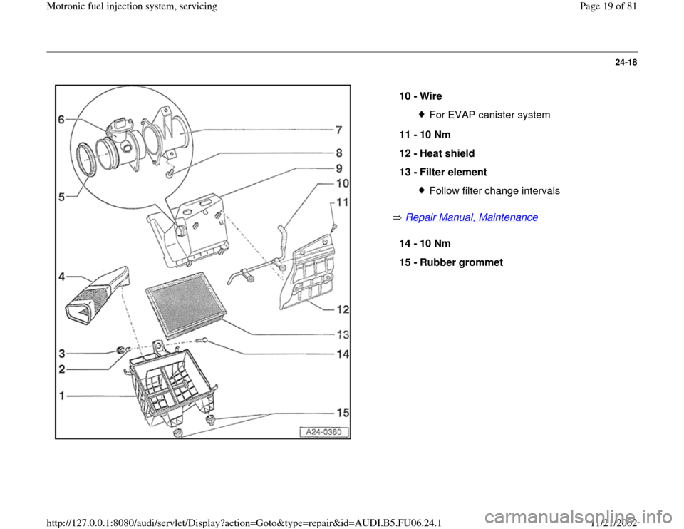 AUDI A4 1997 B5 / 1.G ATW Engine Motronic Fuel Injection Syst, Page 19