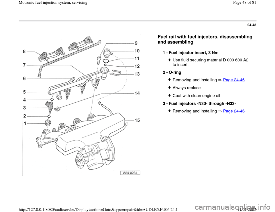 AUDI A4 1997 B5 / 1.G ATW Engine Motronic Fuel Injection Syst, Page 48