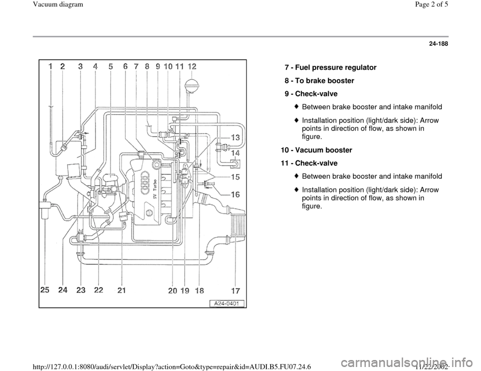AUDI A4 1997 B5 / 1.G AWM Engine Vacuum Diagram Workshop Manual Audi Engine Diagram on b5 s4 engine diagram, skoda engine diagram, volkswagen diesel engine diagram, passat engine diagram, mustang 5.0 engine diagram, b8 s4 engine diagram, smart engine diagram, mercedes engine diagram, jetta engine diagram, volvo t5 engine diagram, geo engine diagram, honda engine diagram, nismo engine diagram, chevrolet engine diagram, gmc engine diagram, 2011 mustang engine diagram, plymouth engine diagram, vw engine diagram, 1.8t parts diagram, porsche engine diagram,