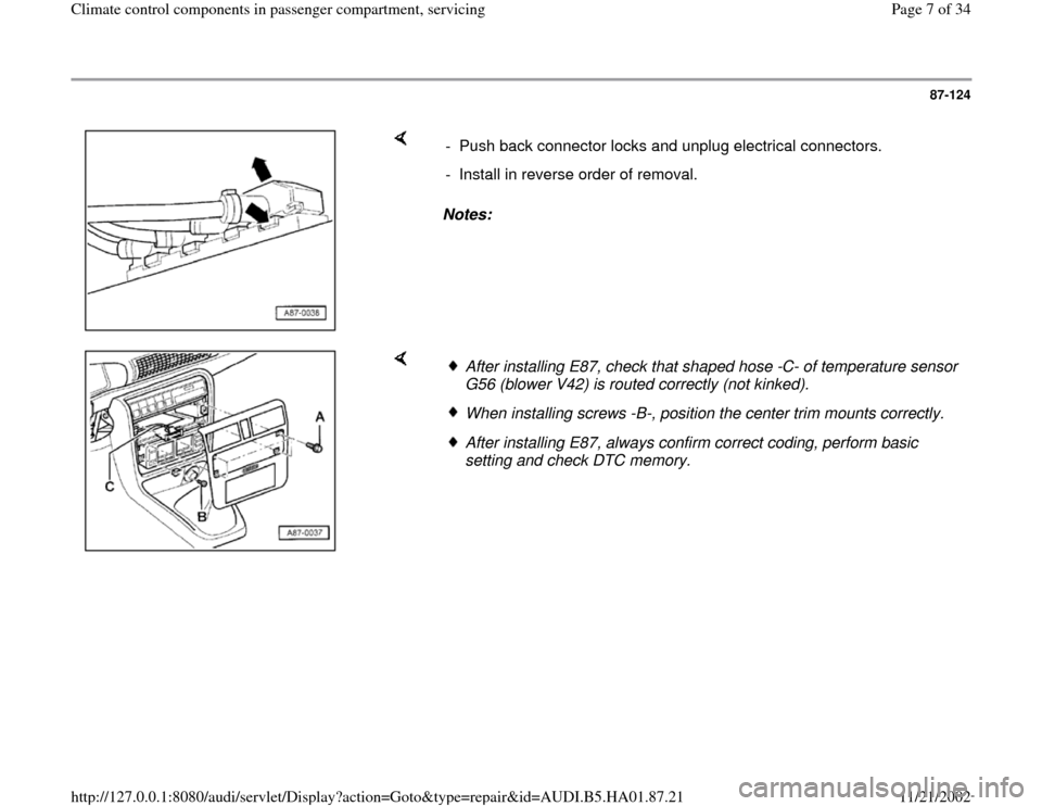 Audi a4 1996 b5 1g climate control components in passenger audi a4 1996 b5 1g climate control components in passenger compartment workshop manual asfbconference2016 Images
