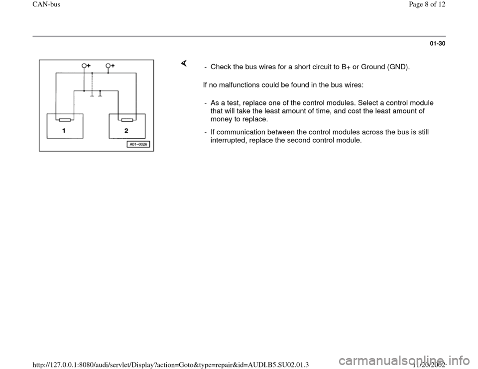 AUDI A4 1997 B5 / 1.G Brakes Can Bus Workshop Manual, Page 8