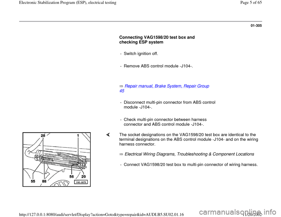 Audi a4 1998 b5 1g brakes esp electrical testing workshop manual asfbconference2016 Gallery