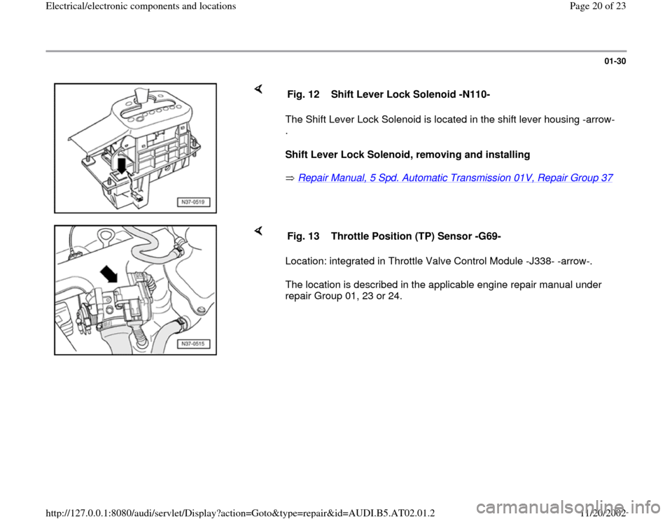 audi q5 9723 - shift lock solenoid (n110)
