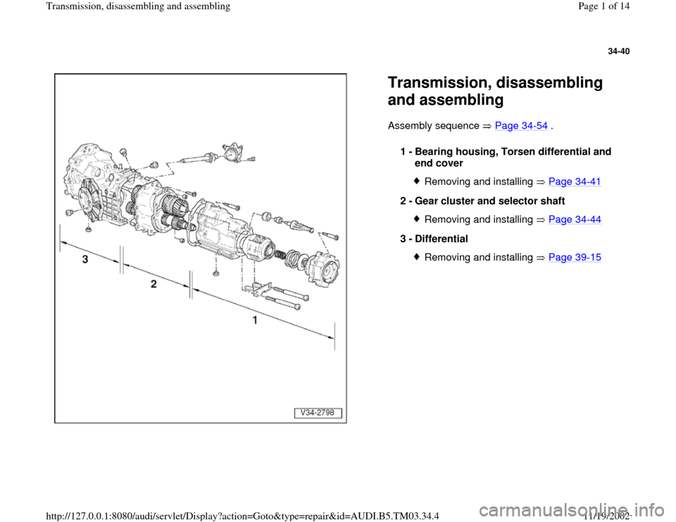 AUDI S4 1998 B5 / 1 G
