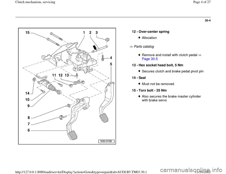 Audi A6 1996 C5    2 G 01e Transmission Clutch Mechanism Service Workshop Manual