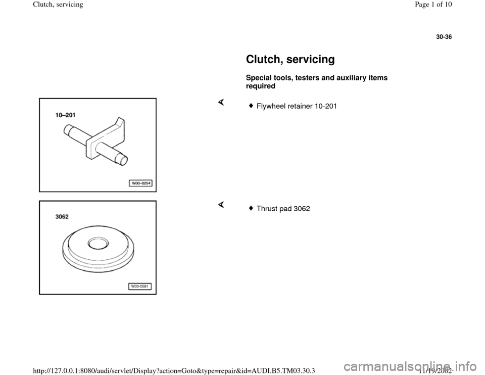 AUDI A6 1995 C5 / 2.G 01E Transmission Clutch Service Workshop Manual, Page 1
