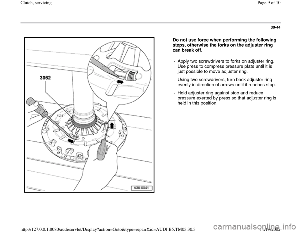 AUDI A6 1995 C5 / 2.G 01E Transmission Clutch Service Workshop Manual, Page 9