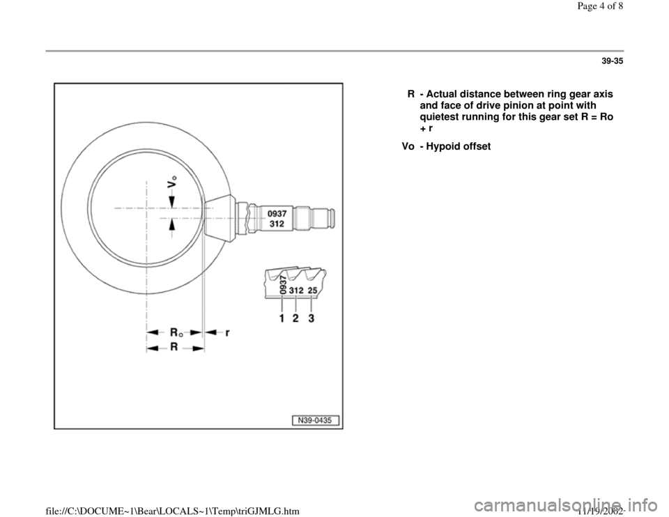 AUDI S4 1995 B5 / 1.G 01E Transmission Final Drive Pinion And Ring Gear Workshop Manual, Page 4