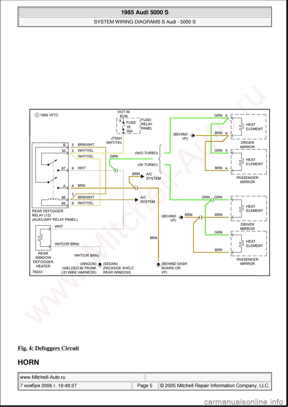 Audi 5000 Wiring Diagram Trusted Diagrams Q7 On Fuse Box 5000s 1985 C2 System Rh Carmanualsonline Info A6 4 2 Transmission 98 A4