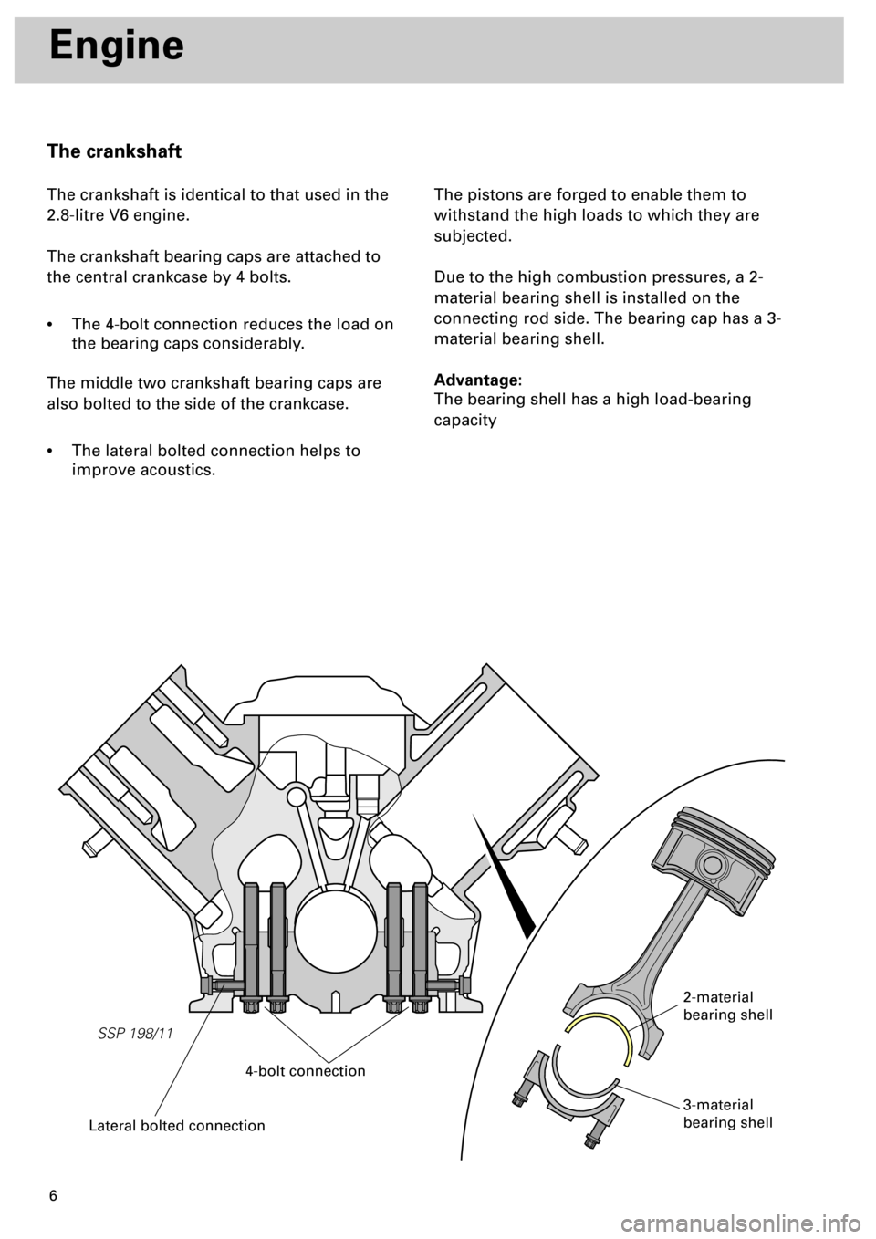 AUDI S4 1998 B5 / 1.G Engine Manual, Page 6