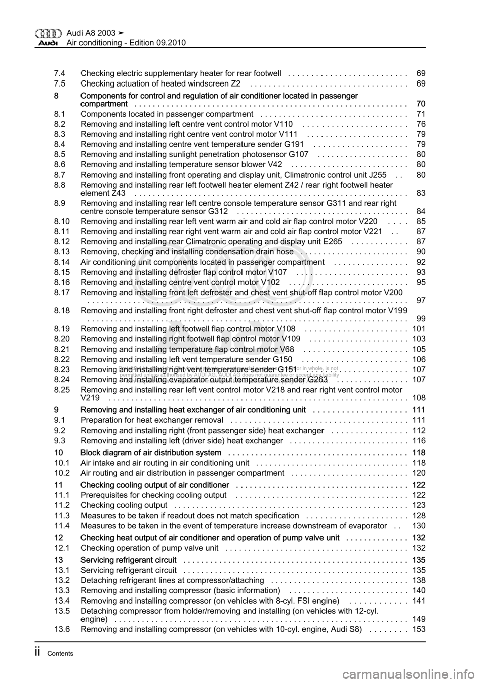 AUDI A8 2003 D3 / 2.G Air Condition Workshop Manual, Page 4