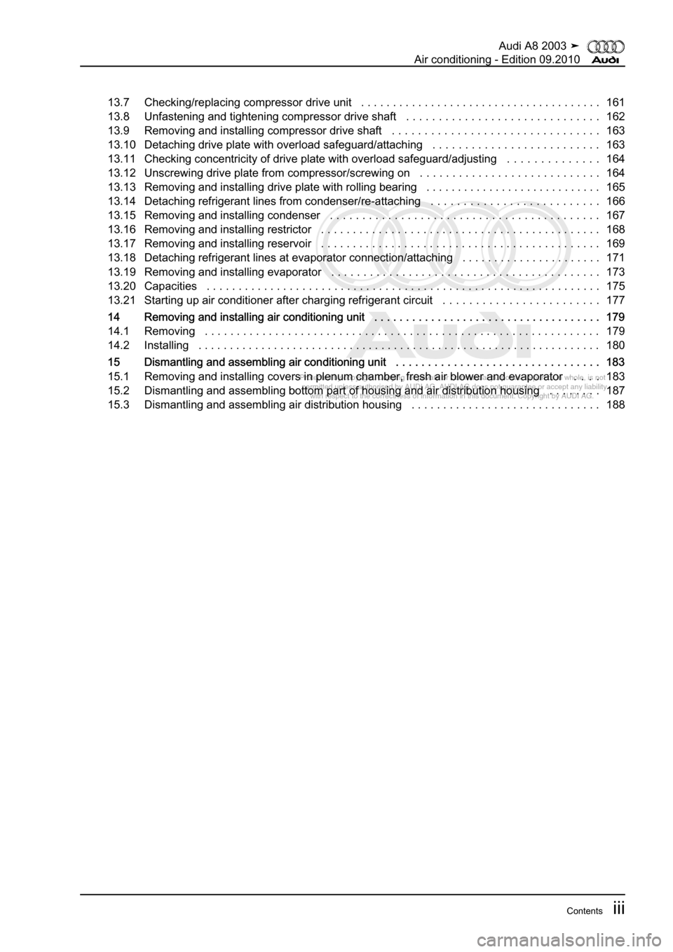 AUDI A8 2003 D3 / 2.G Air Condition Workshop Manual, Page 5