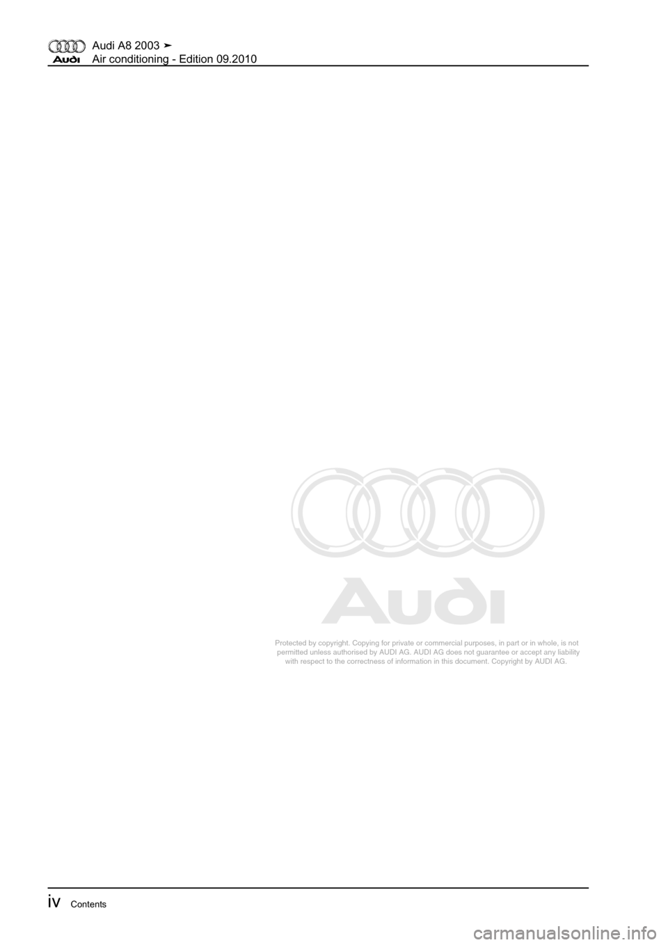 AUDI A8 2003 D3 / 2.G Air Condition Workshop Manual, Page 6
