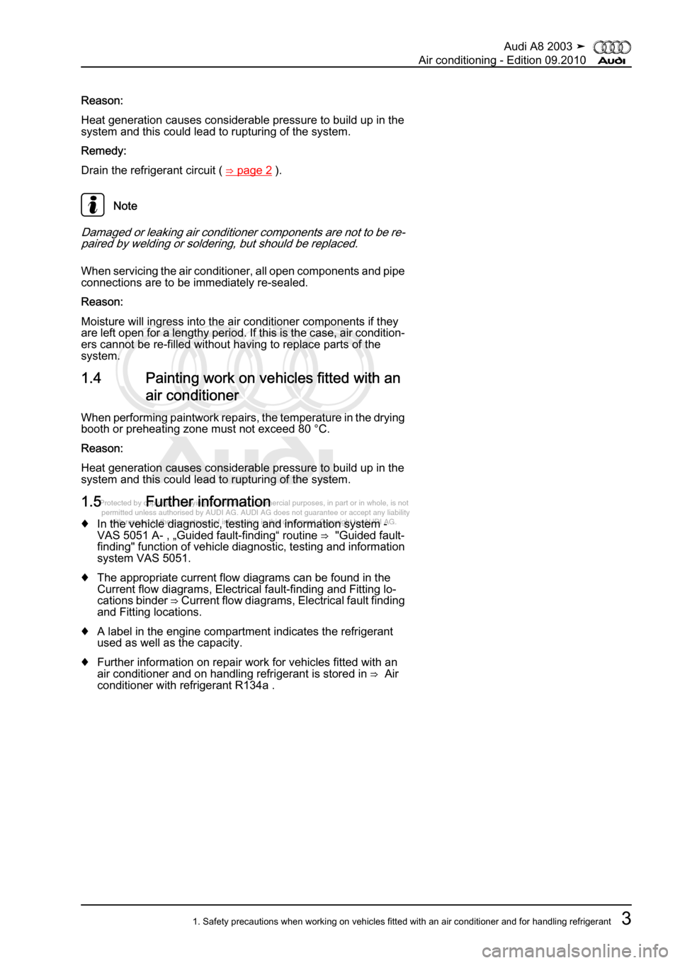 AUDI A8 2003 D3 / 2.G Air Condition Workshop Manual, Page 9