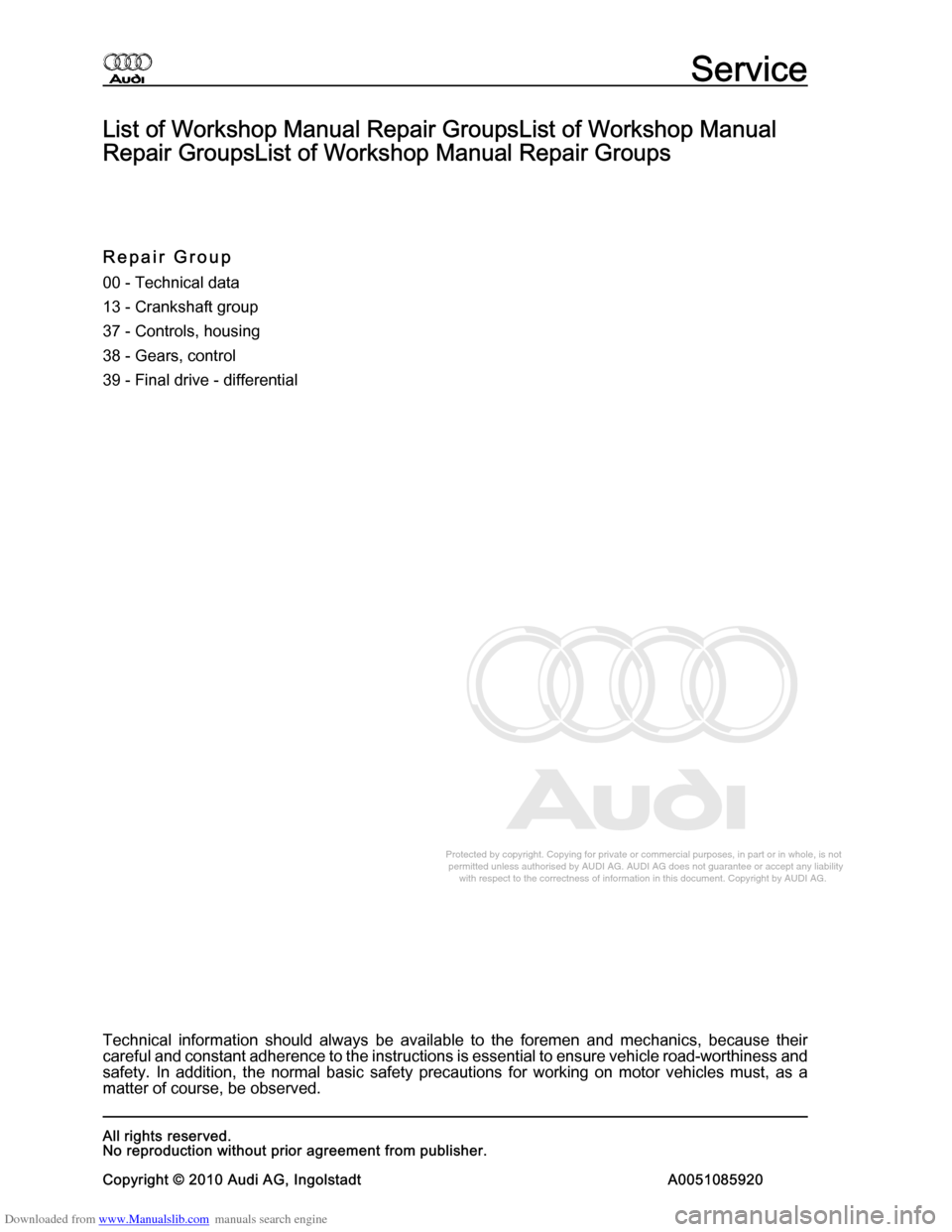AUDI A8 2003 D3 / 2.G Multitronic System Workshop Manual, Page 2