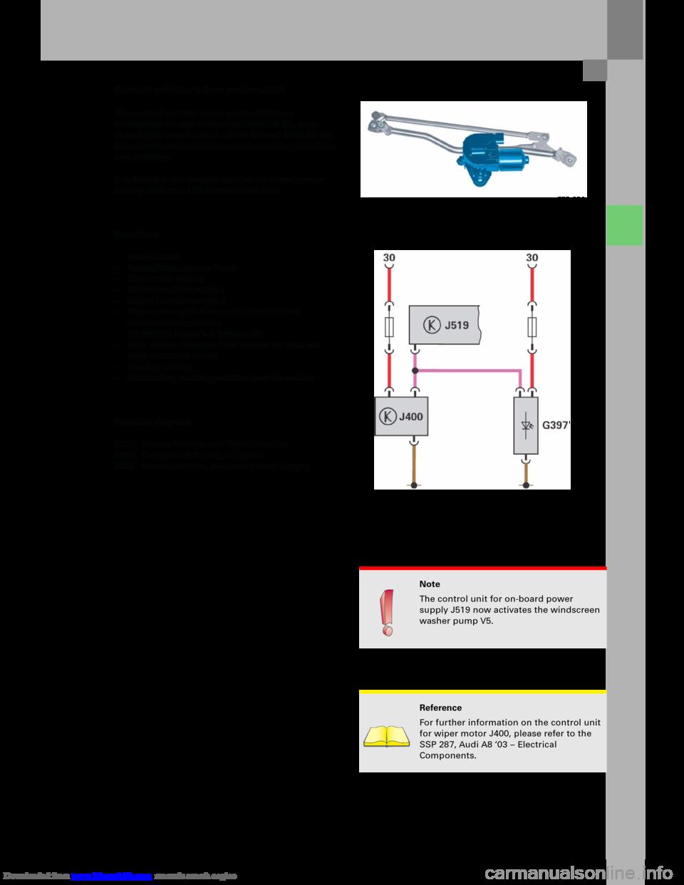 Audi A6 2005 C5 2g Electrics System Training Manual A4 Engine Schematics