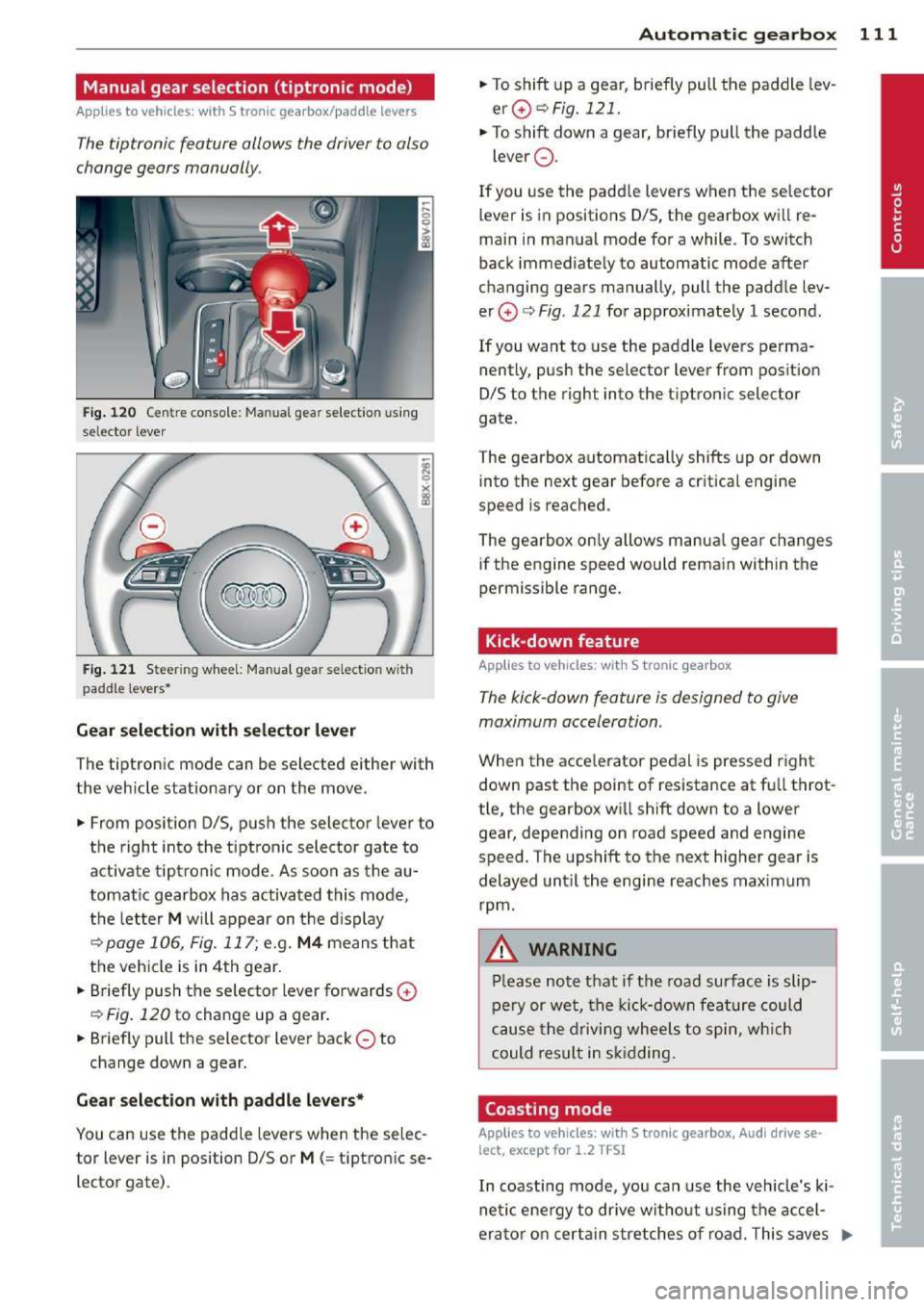 AUDI A3 2014 8V / 3.G Owners Manual