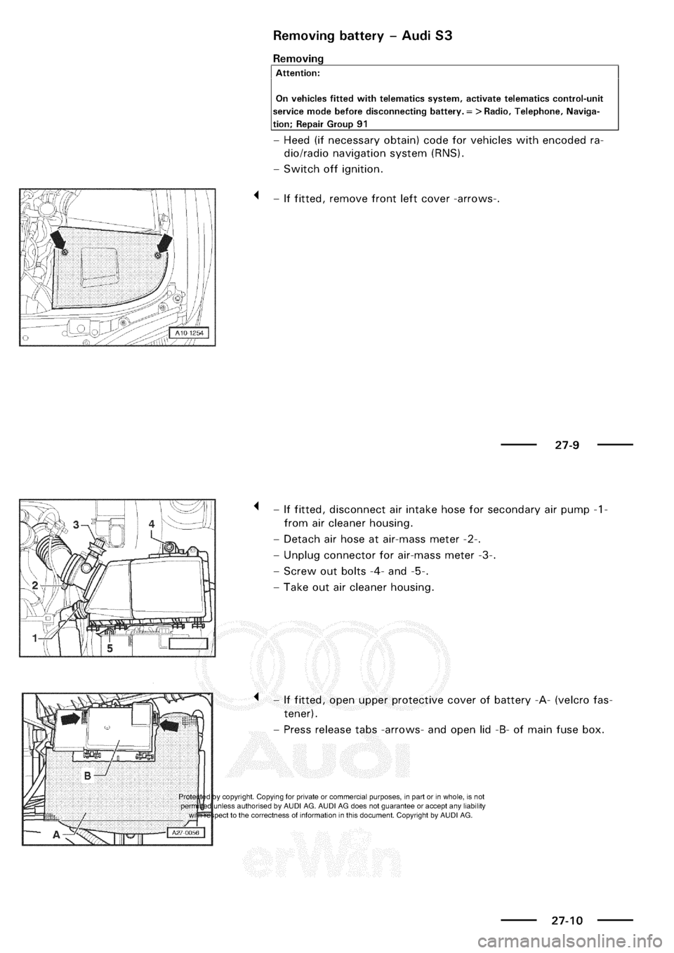 Audi A3 1998 8l 1g Electrical System Workshop Manual Fuse Box