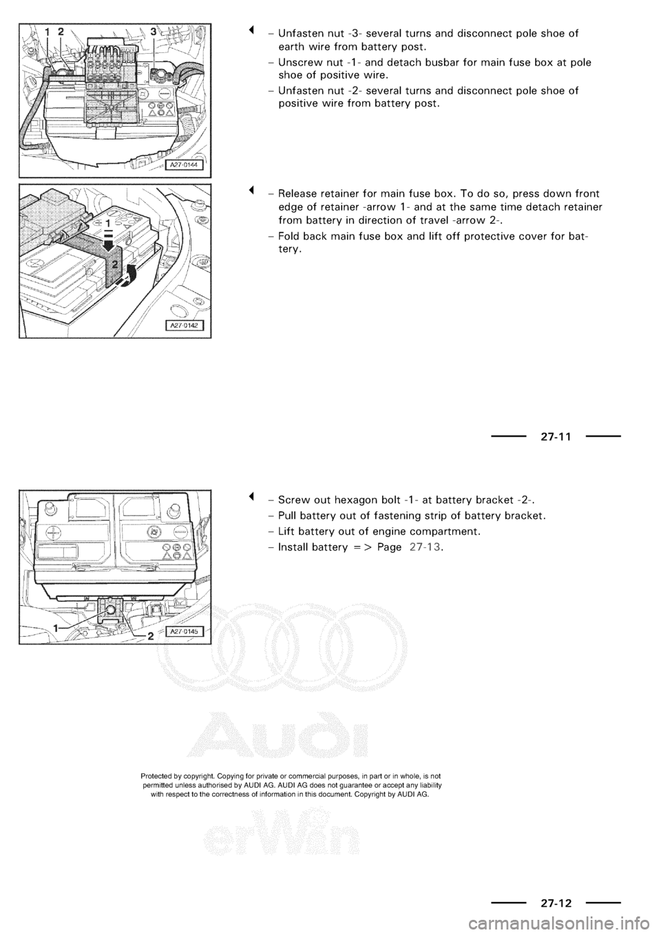 AUDI A3 1997 8L / 1.G Electrical System User Guide