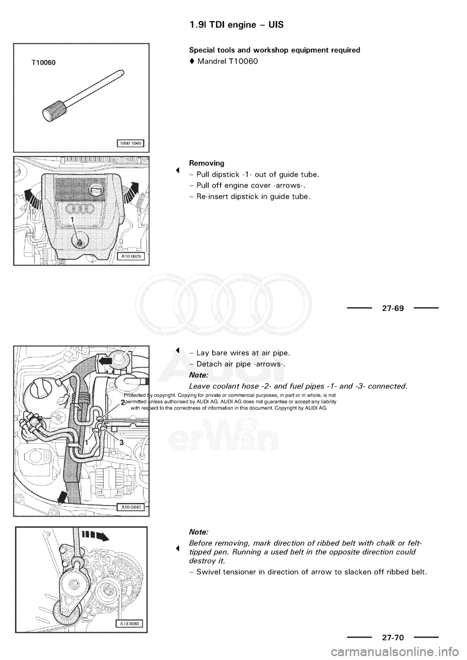 AUDI A3 2003 8L / 1.G Electrical System Service Manual