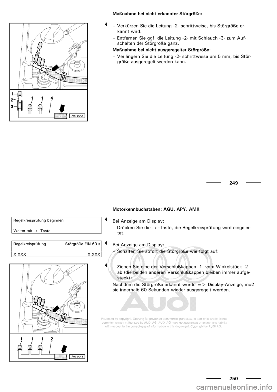 AUDI A3 1998 8L / 1.G Maintenance Workshop Manual