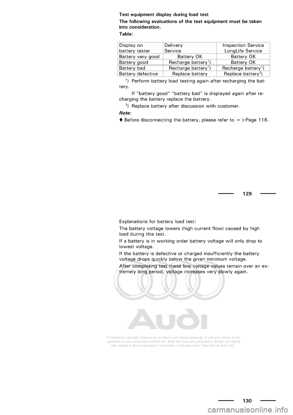 AUDI A3 1997 8L / 1.G Maintenance Repair Manual